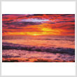 cross stitch pattern Colourful Sunset