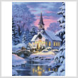 cross stitch pattern Country Church (Crop)