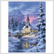 cross stitch pattern Country Church (Large)