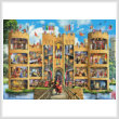cross stitch pattern Castle Cutaway