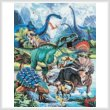 cross stitch pattern Dino