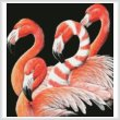 cross stitch pattern Four Flamingos