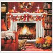 cross stitch pattern Fall Interior