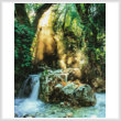 cross stitch pattern Forest Sanctuary (Crop)