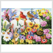 cross stitch pattern Garden Gossip (Large)