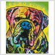 cross stitch pattern Hey Bulldog