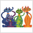 cross stitch pattern High Street Cats
