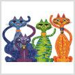 cross stitch pattern High Street Cats
