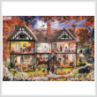 cross stitch pattern Halloween House Painting (Large)