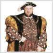 cross stitch pattern Henry the VIII (No Background)