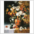cross stitch pattern Mums and Persimmons