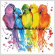 cross stitch pattern Mini Colourful Birds