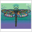 cross stitch pattern Mini Abstract Dragonfly