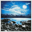 cross stitch pattern Moonlight Bay Photo