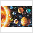 cross stitch pattern Mini New Solar System