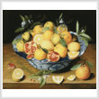 cross stitch pattern Mini StillLife LemonsOrangesPomegranate