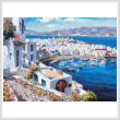 cross stitch pattern Mykonos Harbor