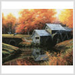 cross stitch pattern The Old Mill in October