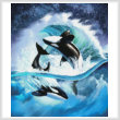 cross stitch pattern Orca Wave (Crop)