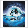 cross stitch pattern Orca Wave