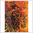 cross stitch pattern Phoenix Painting