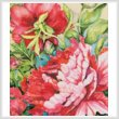 cross stitch pattern Peonies in Shades of Red (Crop)