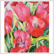 cross stitch pattern Red Tulips (Crop)