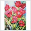 cross stitch pattern Red Tulips