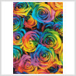 cross stitch pattern Rainbow Roses (Crop 1)