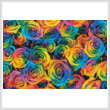 cross stitch pattern Rainbow Roses