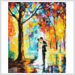 cross stitch pattern Rainy Wedding (Crop)