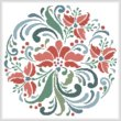 cross stitch pattern Rosemaling 7