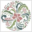 cross stitch pattern Rosemaling 8