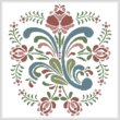 cross stitch pattern Rosemaling 9