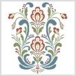 cross stitch pattern Rosemaling 10