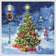 cross stitch pattern Snowman and Christmas Tree