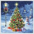 cross stitch pattern Snowman and Christmas Tree