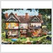 cross stitch pattern Summer House
