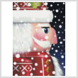 cross stitch pattern Santa Nutcracker