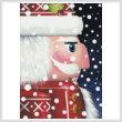 cross stitch pattern Santa Nutcracker