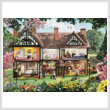 cross stitch pattern Spring House