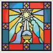 cross stitch pattern Stained Glass Nativity