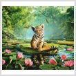 cross stitch pattern Tiger Lily