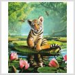 cross stitch pattern Tiger Lily (Crop)