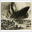 cross stitch pattern Titanic Sinking (Crop)