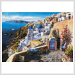 cross stitch pattern View of Santorini