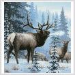 cross stitch pattern Winter Elk (Crop)