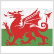 cross stitch pattern Welsh Flag