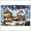 cross stitch pattern Winter House (Large)