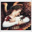 cross stitch pattern The Angel and the Dove (Crop)